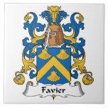 Escudo de la familia de Favier Azulejos