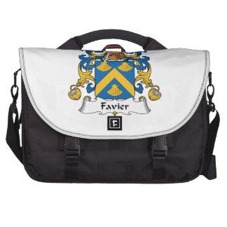 Escudo de la familia de Favier Bolsas De Ordenador