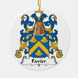 Escudo de la familia de Favier Adorno Redondo De Cerámica