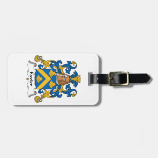 Escudo de la familia de Favier Etiqueta Para Equipaje