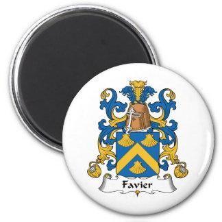 Escudo de la familia de Favier Imán Redondo 5 Cm