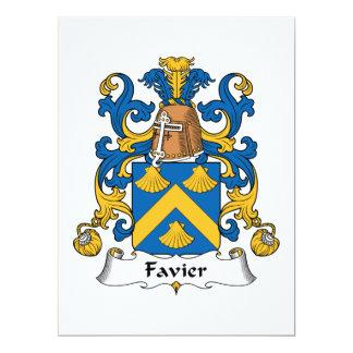 """Escudo de la familia de Favier Invitación 6.5"""" X 8.75"""""""