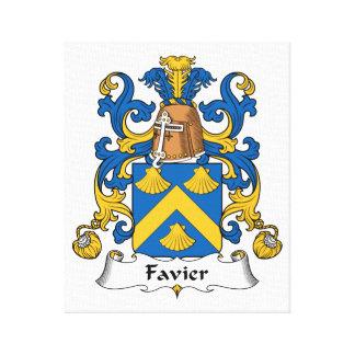 Escudo de la familia de Favier Impresiones En Lienzo Estiradas