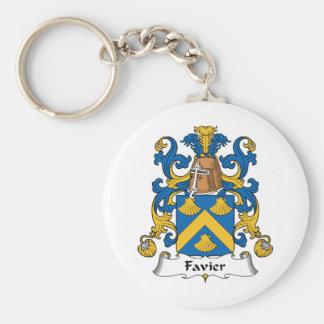 Escudo de la familia de Favier Llavero Redondo Tipo Pin