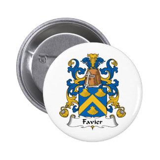 Escudo de la familia de Favier Pin Redondo 5 Cm
