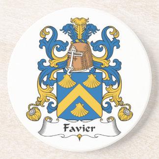 Escudo de la familia de Favier Posavaso Para Bebida