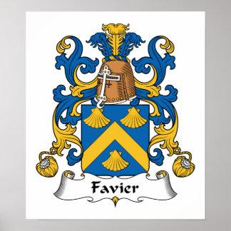 Escudo de la familia de Favier Póster