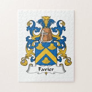 Escudo de la familia de Favier Rompecabezas Con Fotos