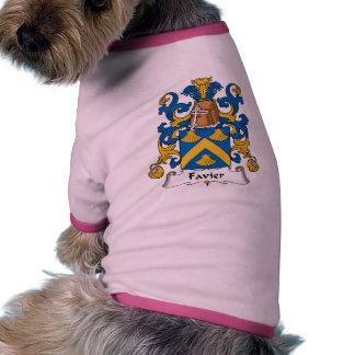Escudo de la familia de Favier Camiseta Con Mangas Para Perro