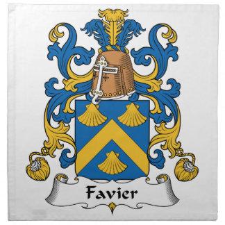 Escudo de la familia de Favier Servilletas Imprimidas