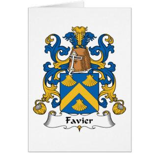 Escudo de la familia de Favier Tarjeta De Felicitación