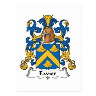 Escudo de la familia de Favier Tarjeta Postal
