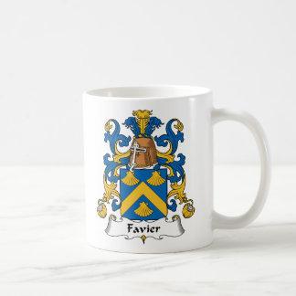 Escudo de la familia de Favier Taza Básica Blanca