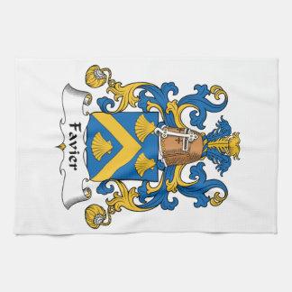 Escudo de la familia de Favier Toallas De Mano