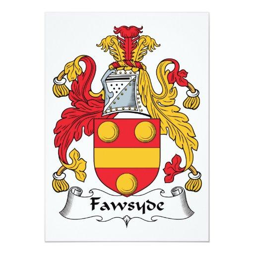 """Escudo de la familia de Fawsyde Invitación 5"""" X 7"""""""