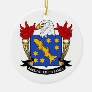 Escudo de la familia de Fayerweather Adorno Redondo De Cerámica