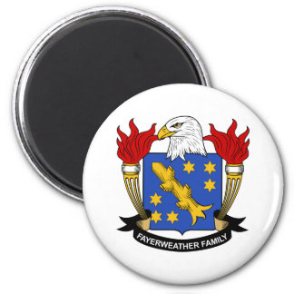 Escudo de la familia de Fayerweather Imán Redondo 5 Cm