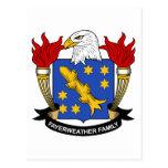 Escudo de la familia de Fayerweather Postal