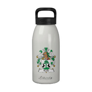 Escudo de la familia de Fecht Botella De Agua Reutilizable