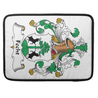 Escudo de la familia de Fecht Fundas Para Macbooks