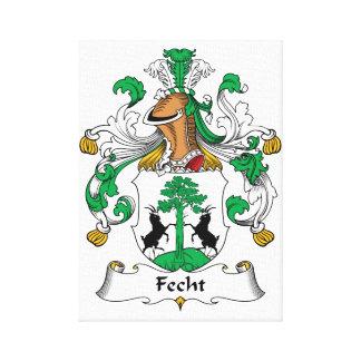Escudo de la familia de Fecht Impresiones De Lienzo