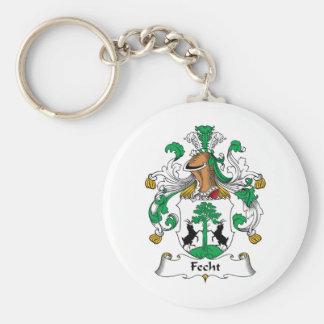 Escudo de la familia de Fecht Llavero Personalizado