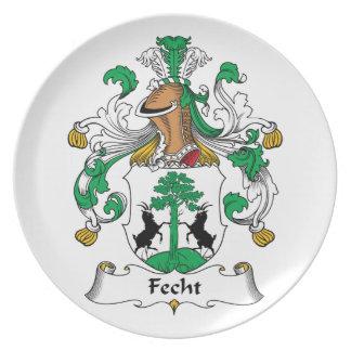 Escudo de la familia de Fecht Plato Para Fiesta