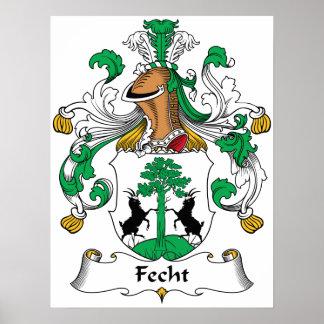 Escudo de la familia de Fecht Poster