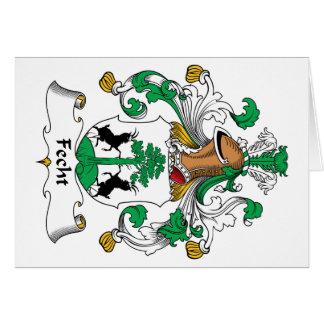 Escudo de la familia de Fecht Tarjeta