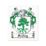 Escudo de la familia de Feeley Impresión De Lienzo