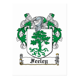 Escudo de la familia de Feeley Tarjetas Postales