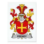 Escudo de la familia de Feeney Invitación 12,7 X 17,8 Cm