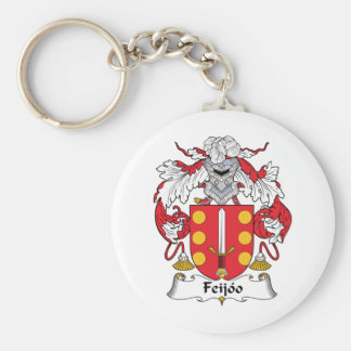 Escudo de la familia de Feijoo Llavero Redondo Tipo Pin