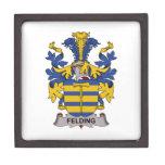 Escudo de la familia de Felding Cajas De Regalo De Calidad