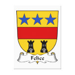 Escudo de la familia de Felice Impresión En Lona