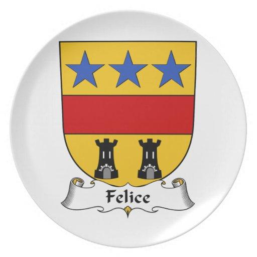 Escudo de la familia de Felice Plato