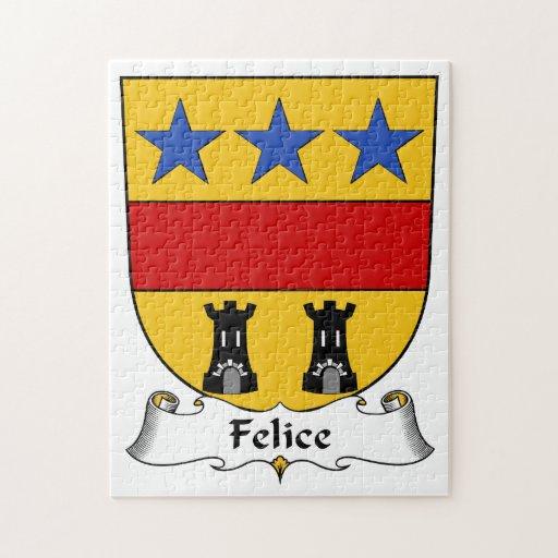 Escudo de la familia de Felice Rompecabeza Con Fotos