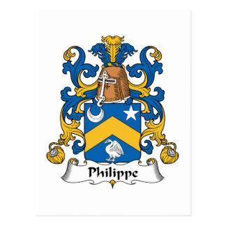 Escudo de la familia de Felipe Tarjeta Postal