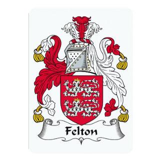 """Escudo de la familia de Felton Invitación 5"""" X 7"""""""