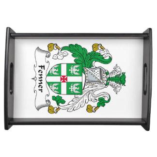 Escudo de la familia de Fenner Bandejas