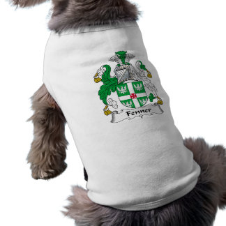 Escudo de la familia de Fenner Playera Sin Mangas Para Perro