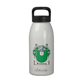 Escudo de la familia de Fennessy Botella De Beber