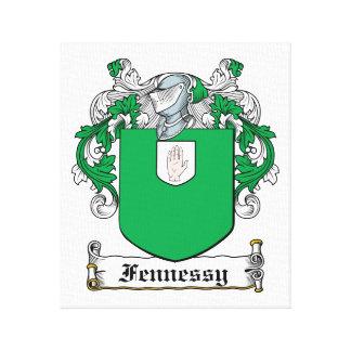 Escudo de la familia de Fennessy Lona Estirada Galerias