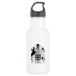 Escudo de la familia de Fenton Botella De Agua