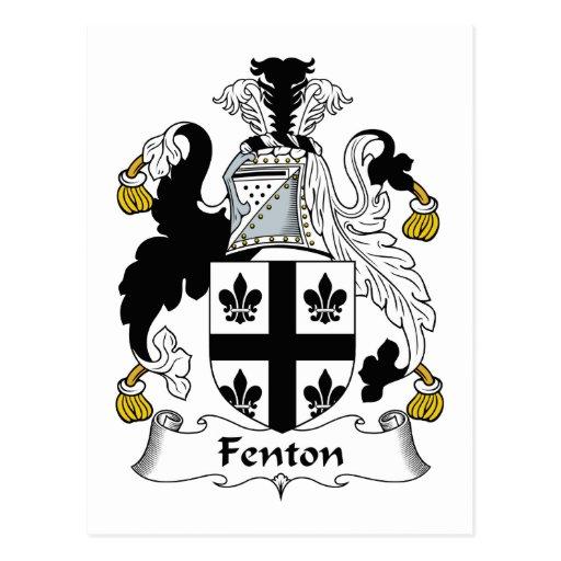 Escudo de la familia de Fenton Postal