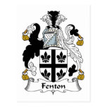 Escudo de la familia de Fenton Postales