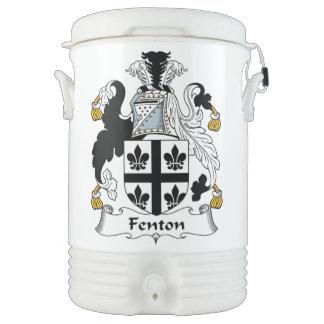 Escudo de la familia de Fenton Refrigerador De Bebida Igloo
