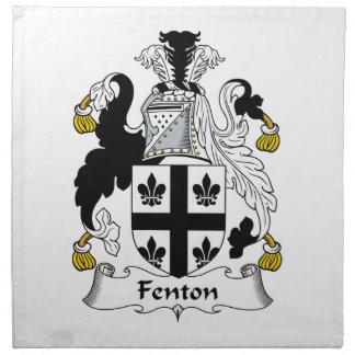 Escudo de la familia de Fenton Servilleta De Papel