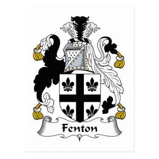 Escudo de la familia de Fenton Tarjeta Postal