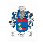Escudo de la familia de Fenzi Postal